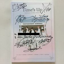 *PROMO*TOP SECRET 1ST MINI ALBUM TIME'S UP SIGNED by ALL MEMBERS + MESSAGE