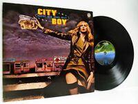 CITY BOY young men gone west LP EX-/VG 6360 151 vinyl album, uk, 1977, prog rock