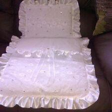❤❤ fatto a mano Silvercross tutto bianco Bambola Carrozzina 2 Pezzi Set ❤❤