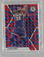 LeBron James 2019/20 Mosaic Blue Reactive Prizm--Lakers