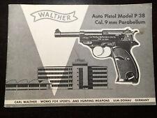 Walther Auto Pistol Model P38 Cal .9mm Parabellum