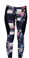 Adidas pour Femmes Tokyo Leggings Imprimés S19941 Noir/Multi 6-12 UK Neuf