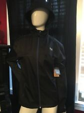 NEW MENS BLACK RAIN RUNNER PERFORMANCE JACKET WINDBREAKER SIZE LARGE RETAIL $40