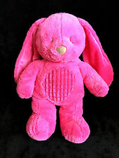 Doudou Peluche Lapin rose fushia Tex Baby Carrefour Nicotoy 35 cm Tout doux