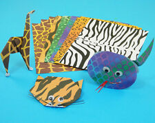 Animal Skin Coloured Paper A4 20 Mixed Sheets Arts and Crafts