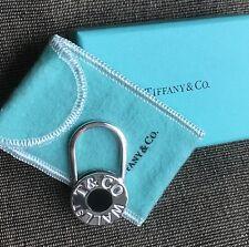 Tiffany Wall Street Stock Market Black Enamel Key Ring