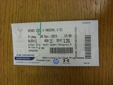 28/03/2014 Ticket: Tottenham Hotspur U21 v Arsenal U21  . Thanks for viewing thi