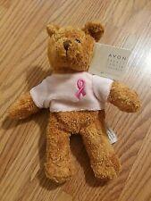 Avon Breast Cancer Crusade Pink Ribbon Teddy Bear Beanie Stuffed 2001 New