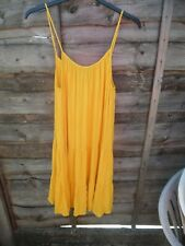 LADIES LOVELY BRAND NEW YELLOW TIERED DRESS SIZE 18