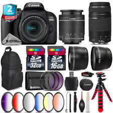 Canon EOS Rebel 800D T7i + 18-55mm IS STM + 75-300mm III + Backpack - 48GB Kit
