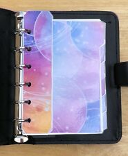 Filofax Pocket Organiser - Bright & Colourful Bubble Design Dividers - Laminated