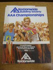 Programma di atletica leggera 13/07/1979: CAMPIONATI AAA [A Crystal Palace] OFFICIAL P