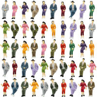 8-48pcs Model Train G scale Sitting Figures 1:25 Painted Seated People 4 Poses