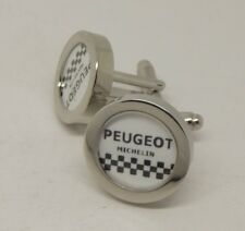 Brand New Team Peugeot cycling cuff links silver Merckx Simpson