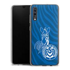 Samsung Galaxy A70 Silikon Hülle Case Handyhülle - Zebra Dunkelblau - MSV