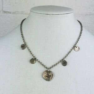 """Silpada N1668 Sterling Silver Floral Disc Coin Coins Flowers Necklace, 18"""""""