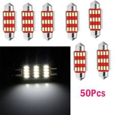 50x 41mm 12SMD 4014 C5W LED Light  Festoon Dome Car License Plate Lamp