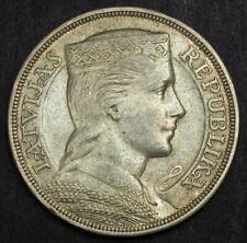 1931, Latvia (Republic). Beautiful Large Silver 5 Lati Coin. XF-AU!