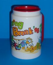Walt Disney World SPRING BREAK 1998 Mickey Mouse Plastic Travel Cup Mug