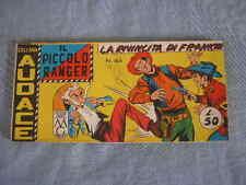 IL PICCOLO RANGER STRISCIA AUDACE NUMERO 44 IV SERIE 1962