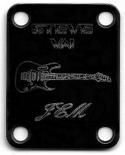 Engraved Etched GUITAR NECK PLATE - Ibanez Jem - STEVE VAI - BLACK
