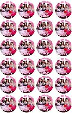 24 Personalised Little Mix Edible Cupcake Fairy Cake Wafer Paper Toppers