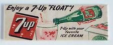 7-Up Float FRIDGE MAGNET (1.5 x 4.5 inches) ice cream soda sign label