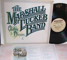 Marshall Tucker Band Corolina Dreams LP EX+ Vinyl Lyric Insert Embossed Letters
