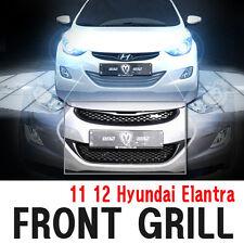 Front Top & Bottom Hood Radiator Grill Silver N5S 2p For 11 12 Hyundai Elantra