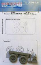 Aires 1/32 Messerschmitt Bf109 F RUOTE e maschere per Trombettista kit # 2138