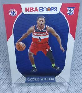 2020-21 Panini NBA Hoops Basketball Cassius Winston Rookie Card #227 WIZARDS