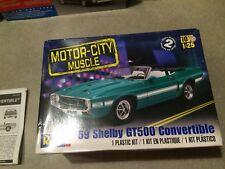 REVELL 1969 MUSTANG SHELBY GT 500 CONVERTIBLE Model Kit Preowned RARE MODEL !!