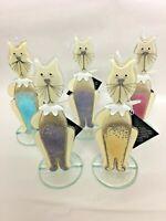 Cat Kitten  Ornament Glass Fused Glass Nobile Glass & Giftware