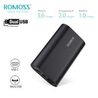 ROMOSS 12W 2.4A Fast Charge Aluminum Power Bank 10000mAh 2 USB External Battery