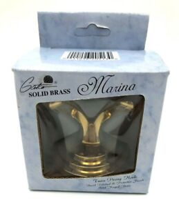 Gatco Marina Collection Twin Prong Hook in Solid Brass New