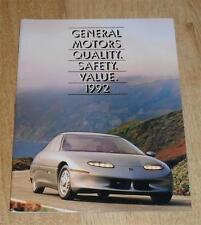 USA General Motors BROCHURE GAMMA 1992 Camaro Pontiac Trans AM CADILLAC ALLANTE