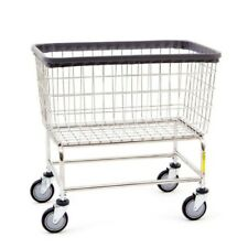 Large Capacity Rolling Laundry Cart/Chrome Basket on Wheels R&B Wire 200F