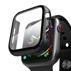 Case for Apple Watch Series 4/5/6 and Watch SE 40mm Screen Protector Cover Black