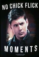 XS Supernatural t-shirt: no click flick moments punk rock Sam Dean Winchester