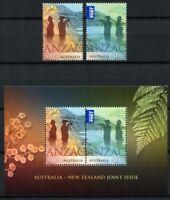 Australien Australia 2015 ANZAC Weltkrieg World War Neuseeland Joint Issue MNH