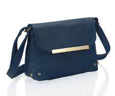 Small Blue Metal Detail Cross Body Bag