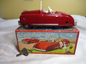 Schuco Radio #4012 Convertible Windup Car Radio Music Box Car w/ Box (works)