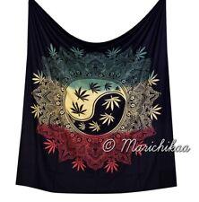 Rasta Dye Cannabis Wall Hanging Marijuana Ying Yang Tapestry Queen Hippie Decor