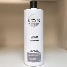 Nioxin System 1 CLEANSER (shampoo) for fine hair  - 33.8 oz/ 1 Liter