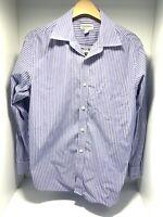 Banana Republic Button Up Shirt Mens Medium Multicolor Stripe Long Sleeve Casual