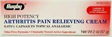 Rugby Capsaicin 0.075% Cream, High Potency Arthritis Relief, 2oz, -Exp 05-2021
