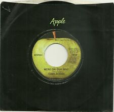 CHRIS HODGE, WE'RE ON OUR WAY b/w SUPERSOUL, 1972 ORIGINAL APPLE 45rpm, MINT-