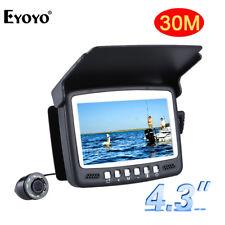 "4.3"" Monitor 15M 1000TVL Underwater Night Vision Camera Fish Finder W/Sunshield"