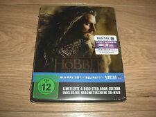 Hobbit Smaugs Einöde Blu-Ray 3D 4-Disc Steelbook Edition + Hologrammkarte NEU
