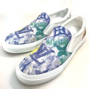 Unused LOUIS VUITTON 1A8JWI Monogram Trocadero-Line Sneakers Men's shoes 8